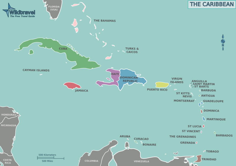 Map Of The Caribbean Islands Map Of Caribbean Caribbean Islands - Map of caribbean islands