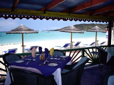Sandy Ground, Anguilla - Roy's Bayside Grill - Our view.